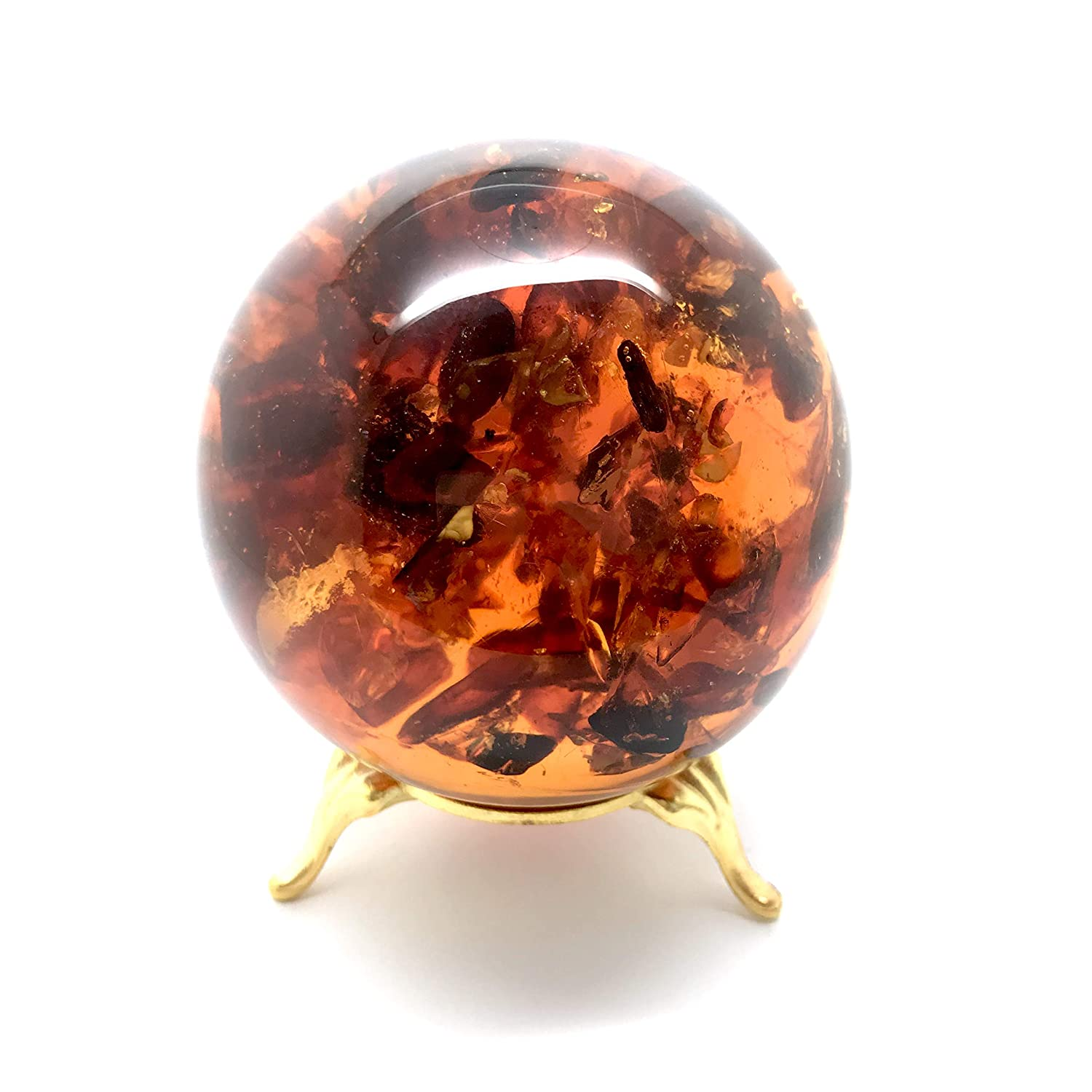 Image of Beads & Bead Assortments Natural Amber Ball Decor piece of ±250g, 74mm
