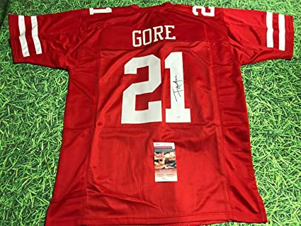 FRANK GORE AUTOGRAPHED SAN FRANCISCO 49ERS JERSEY JSA at Amazon's ...