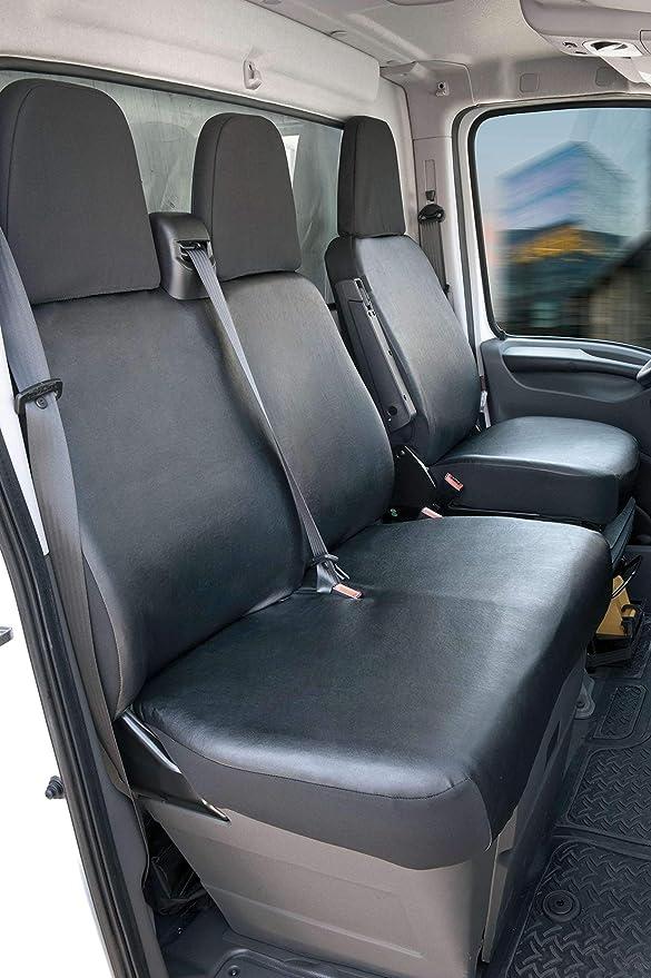 Massgefertigter Sitzbezug Transporter schwarz passt für Fiat Scudo ab 2007