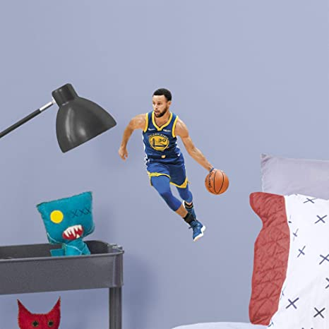 608264e9e8f8 Amazon.com   FATHEAD NBA Golden State Warriors Steph Curry Steph Curry- Officially  Licensed Removable Wall Decal