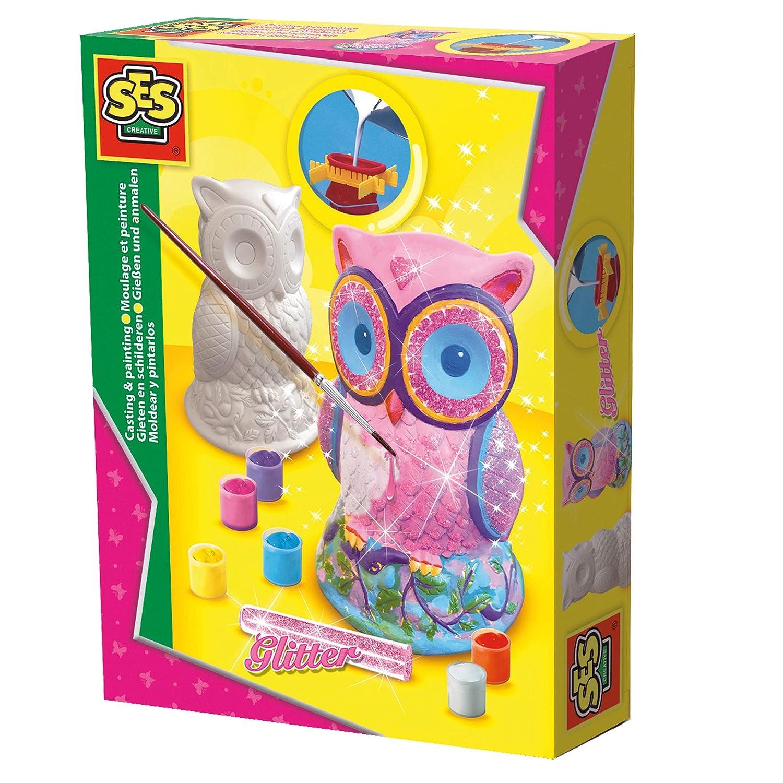 SES Creative - Moldear y Pintar, Lechuza (01285): Amazon.es: Juguetes y juegos