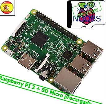 Kit Raspberry 3 + tarjeta micro SD + NOOBS: Amazon.es ...