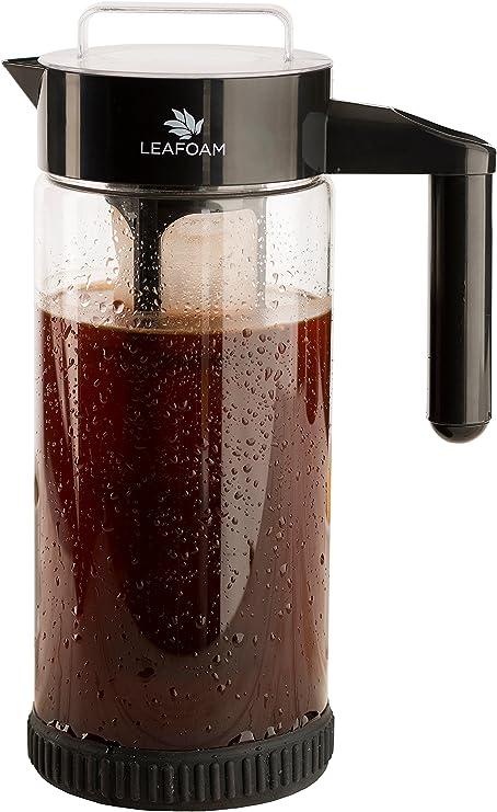Cold Brew cafetera eléctrica y infusor de té 1.3L (44oz) cristal ...