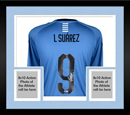 509ff278c54 Framed Luis Suarez Uruguay Autographed Puma Jersey - Fanatics Authentic  Certified - Autographed Soccer Jerseys at Amazon s Sports Collectibles Store