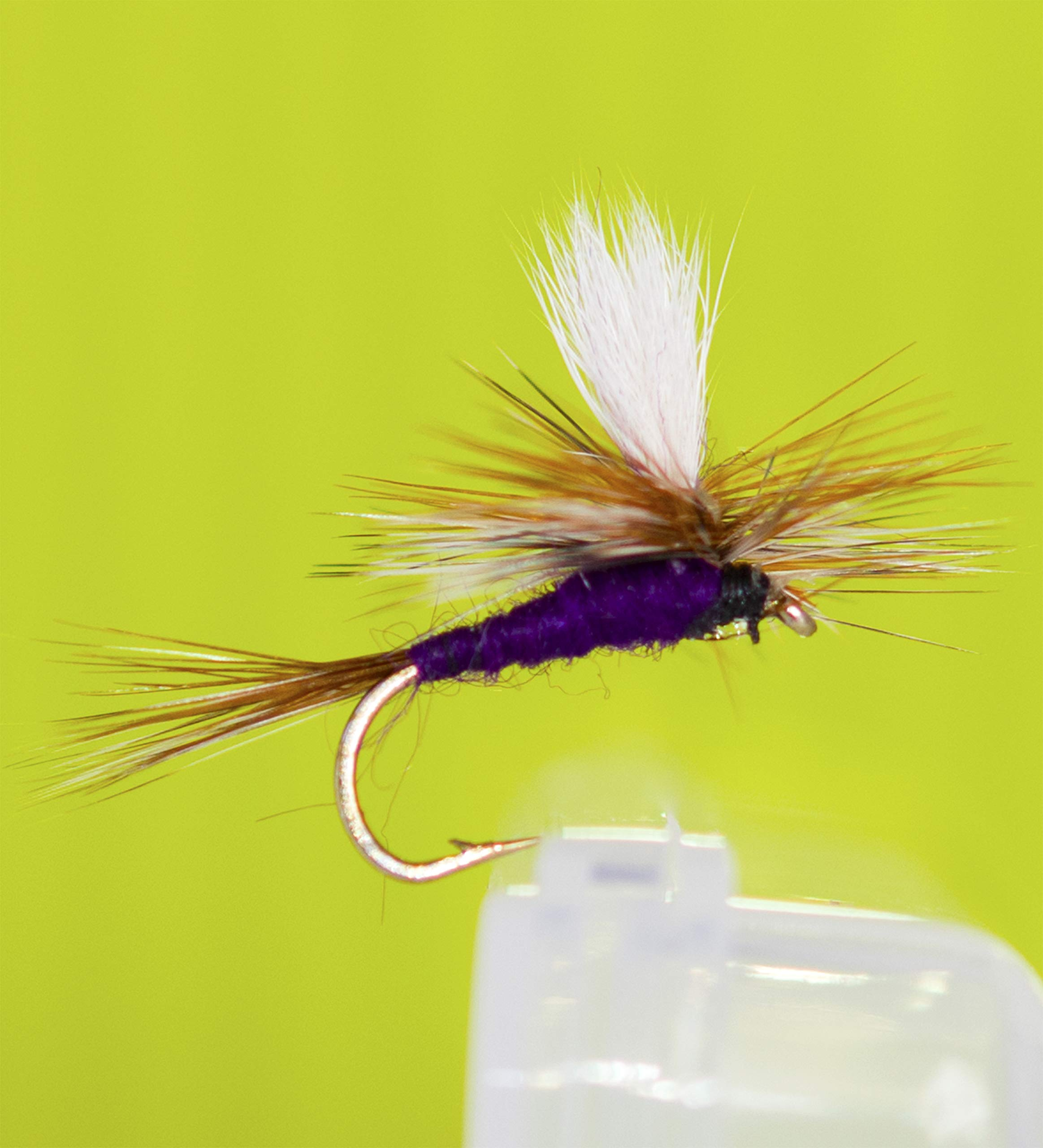 Outdoor Planet 12 Adams Purple Parachute Dry Flies Trout Flies Lure Assortment for Trout Fly Fishing Flies by Outdoor Planet