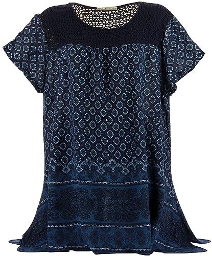 Charleselie94® - Camisas - para mujer azul XXXL