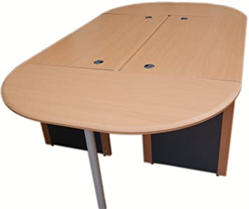 Large Office Boardroom Table Conference Table Beech Dark Grey - England conference table