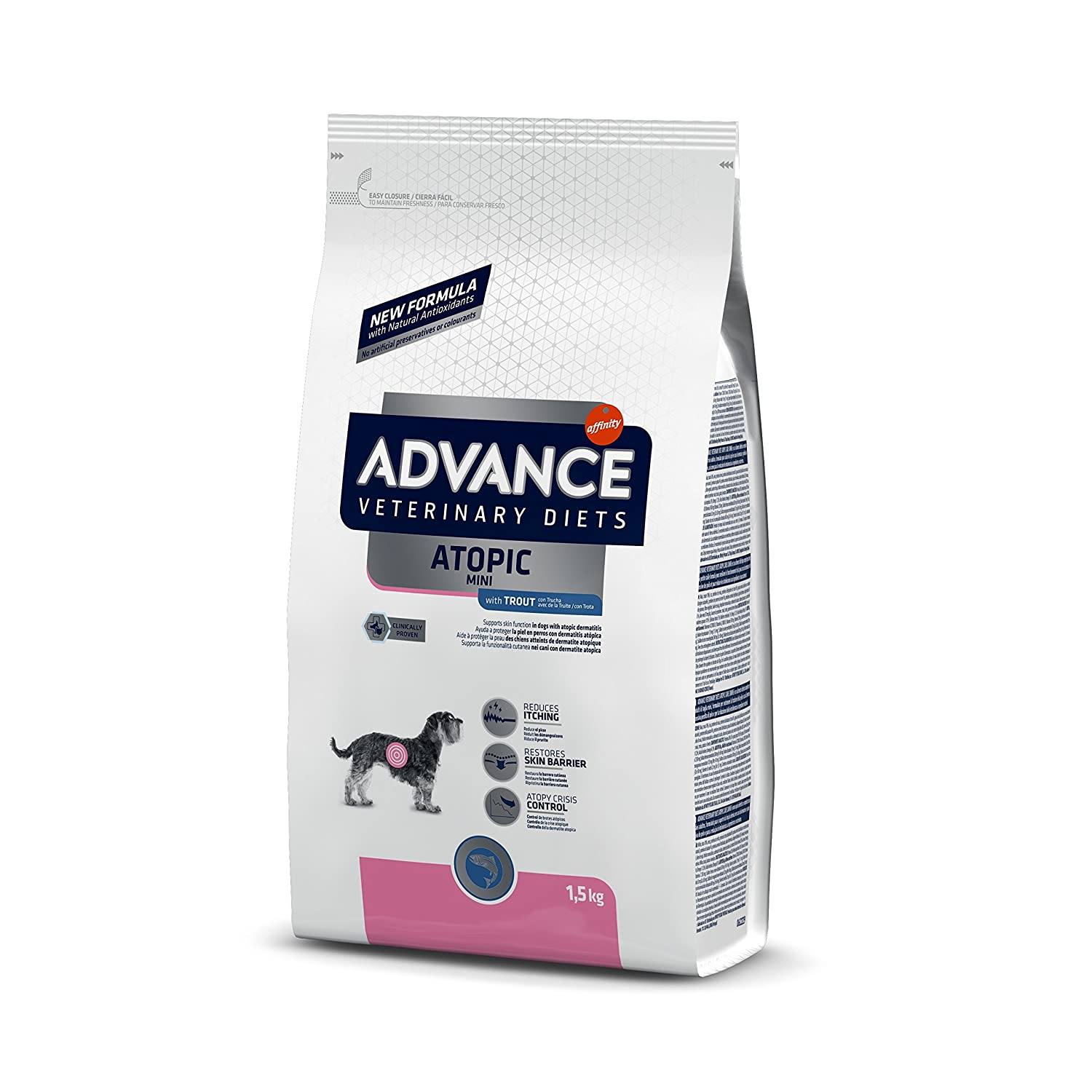 Advance atopic Mini, 1er Pack (1 x 1500 g): Amazon.es: Productos para mascotas