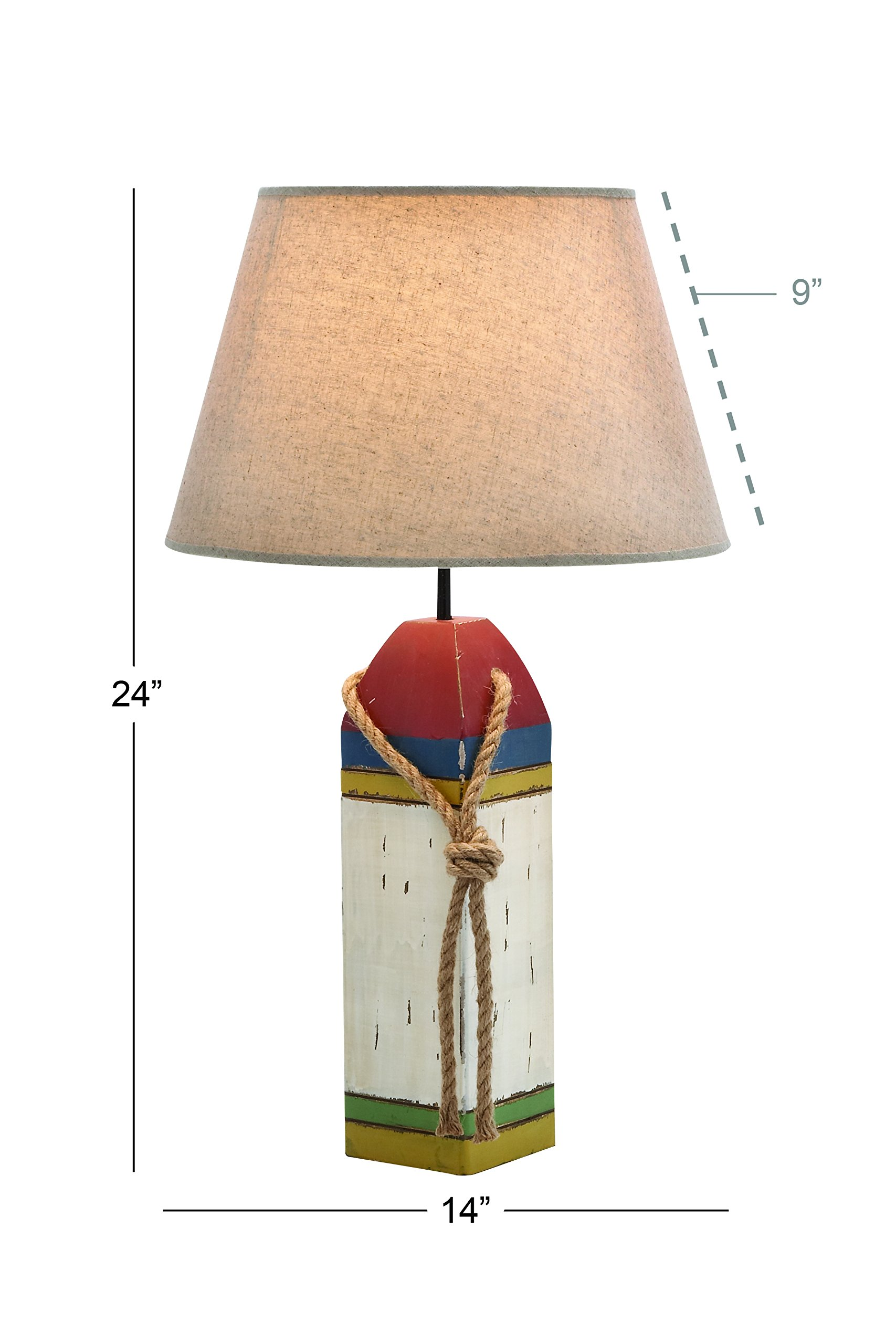 Deco 79 28751 Wood Buoy Table lamp 24'' H
