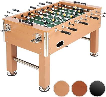 Jago - Futbolín de madera y altura regulable – color madera ...