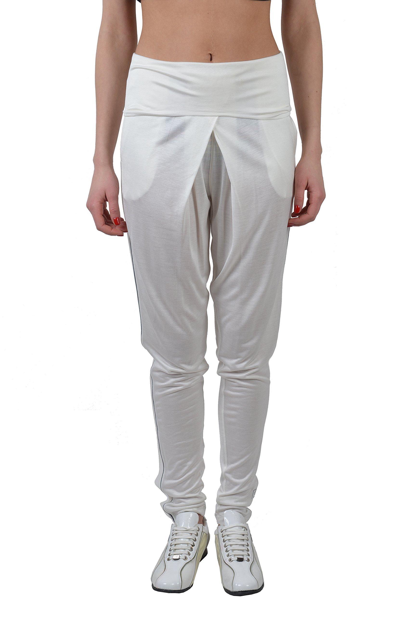 Fendi Women's White Pleated Tuxedo Style Pants US 4 IT 40 by Fendi