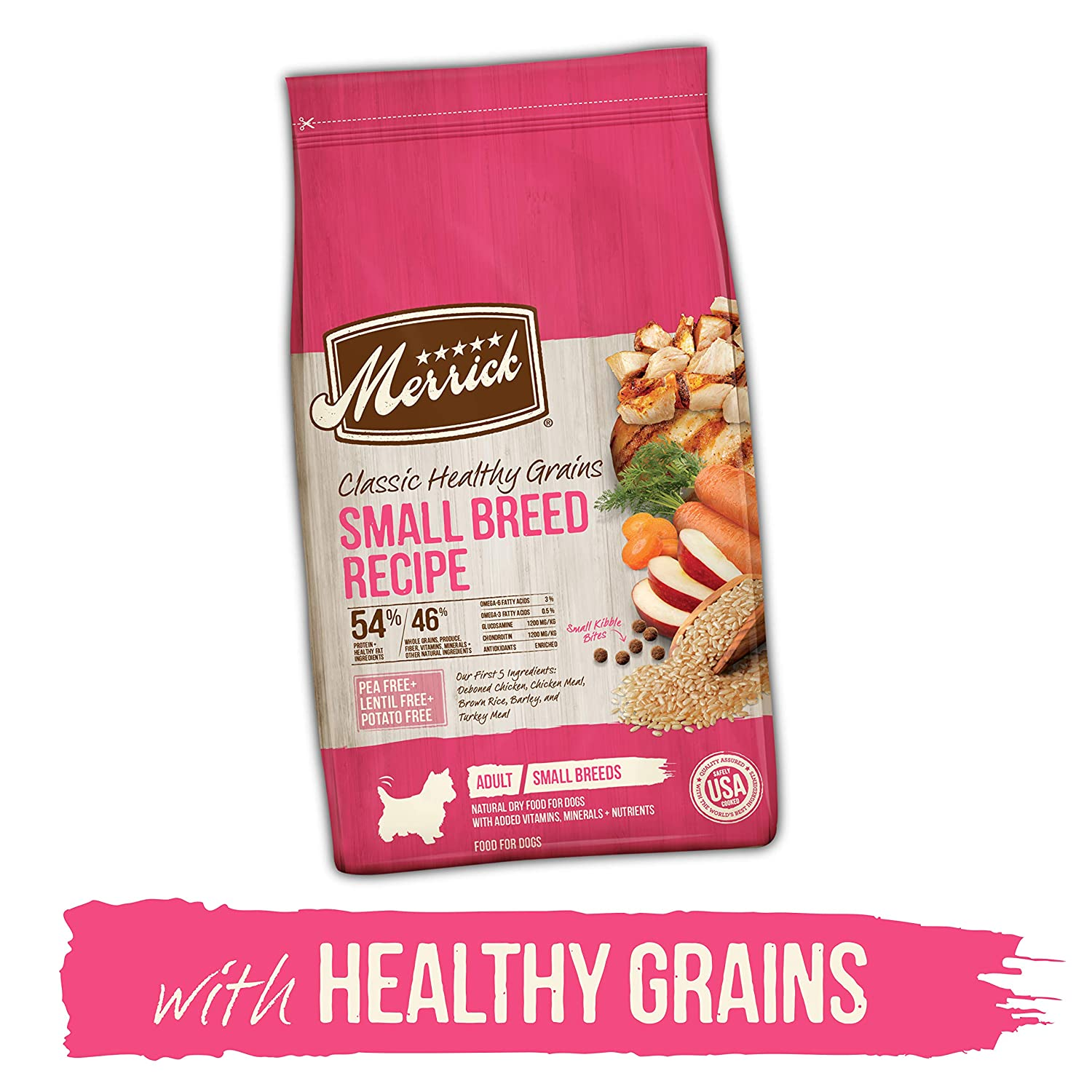 5.Merrick Classic Healthy Grains Small Breed Adult Dry Dog Food