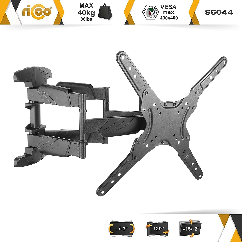 RICOO S5044, Soporte TV Pared, Giratorio, Inclinable, Televisión 30-55