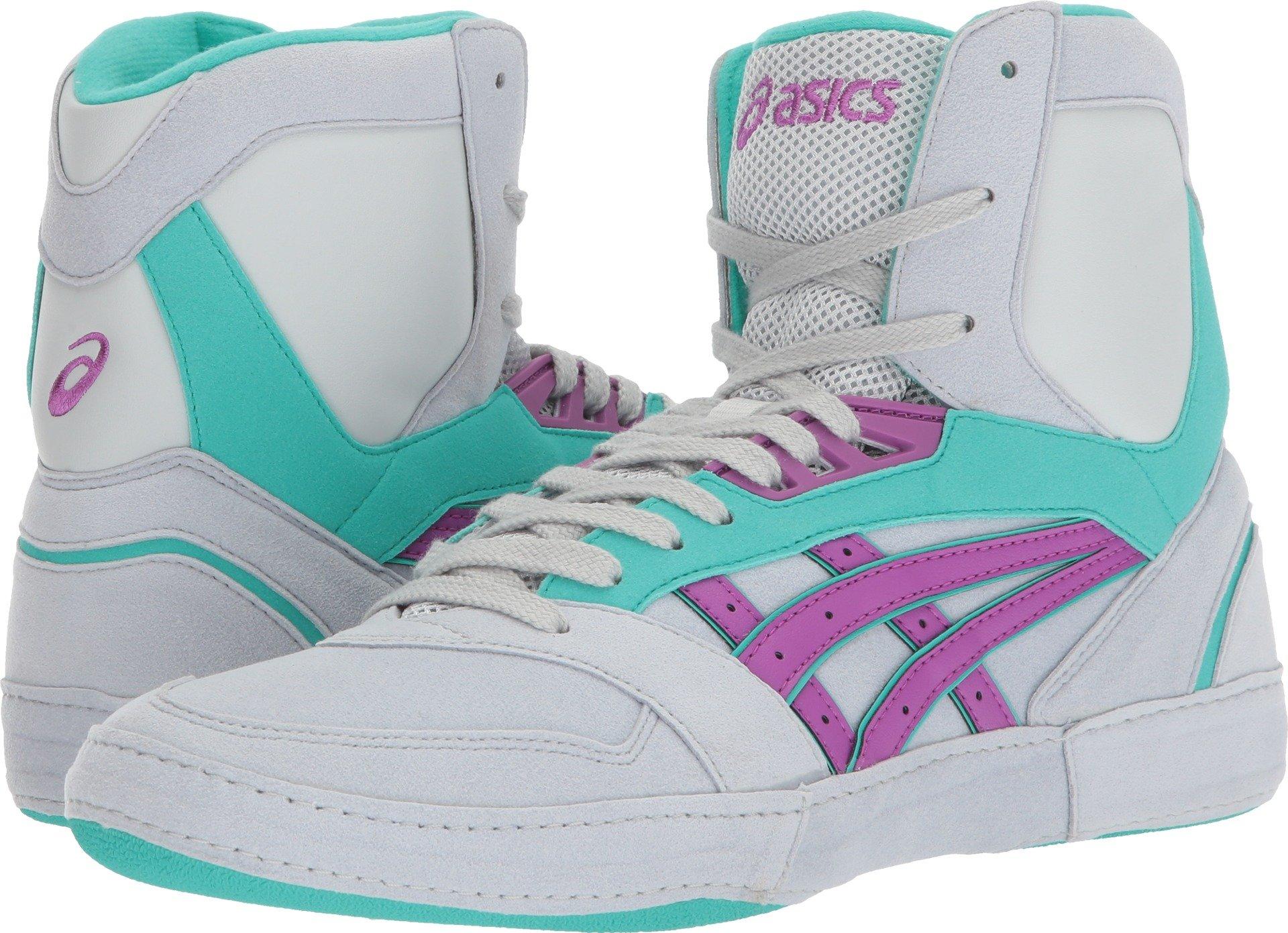 ASICS International Lyte Mens Wrestling Shoes, Glacier Grey/Orchid/Atlantis, Size 11.5 by ASICS
