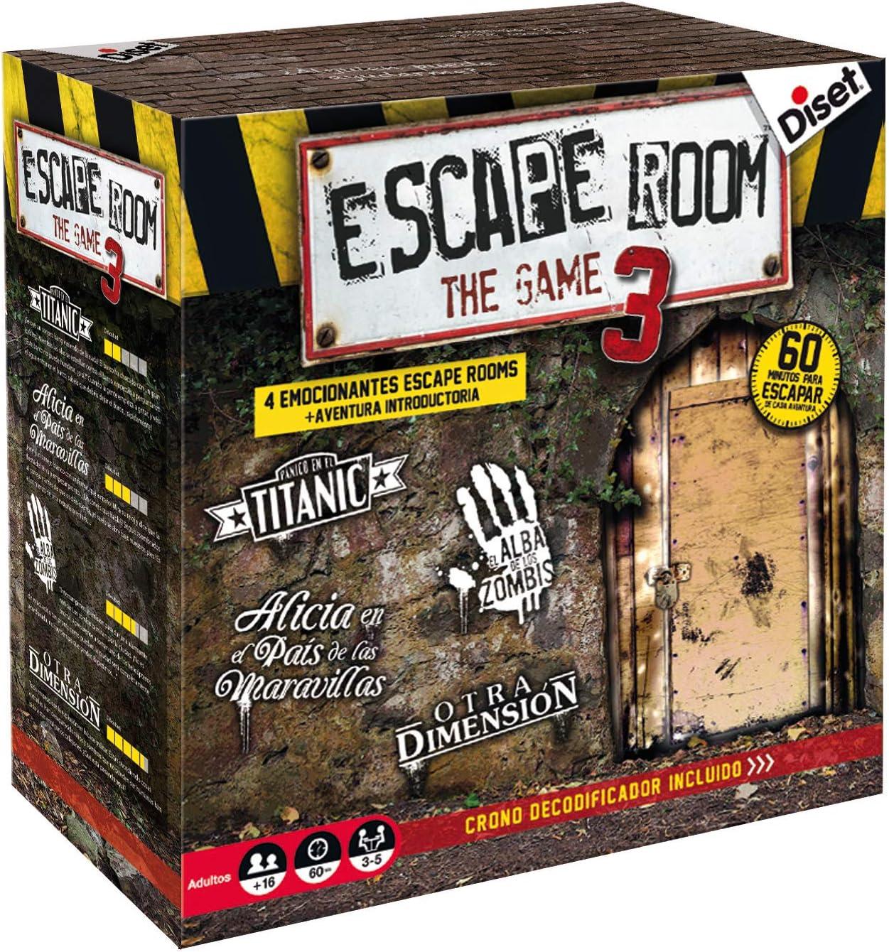 Diset - Escape Room the game 3 - Juego de mesa adulto a partir de 16 años: Amazon.es: Juguetes y juegos