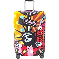Periea Premium 3mm Elasticated Suitcase Luggage Cover - 38 Different Designs - Small, Medium or Large (Pop Art Statue of Liberty, Small)