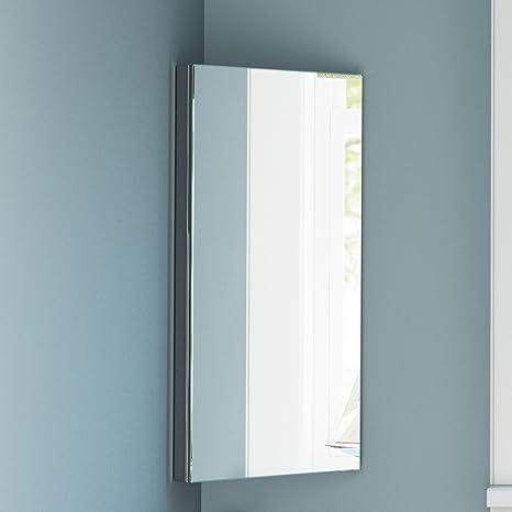 Specchio Angolare Per Bagno.Angolo In Acciaio Inox Armadietto A Specchio Bagno Moderno Armadietto Mod Mc101