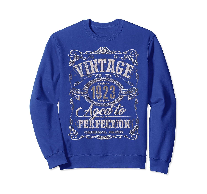 95th Birthday gift sweatshirt Vintage dude 1923 95 year old-mt