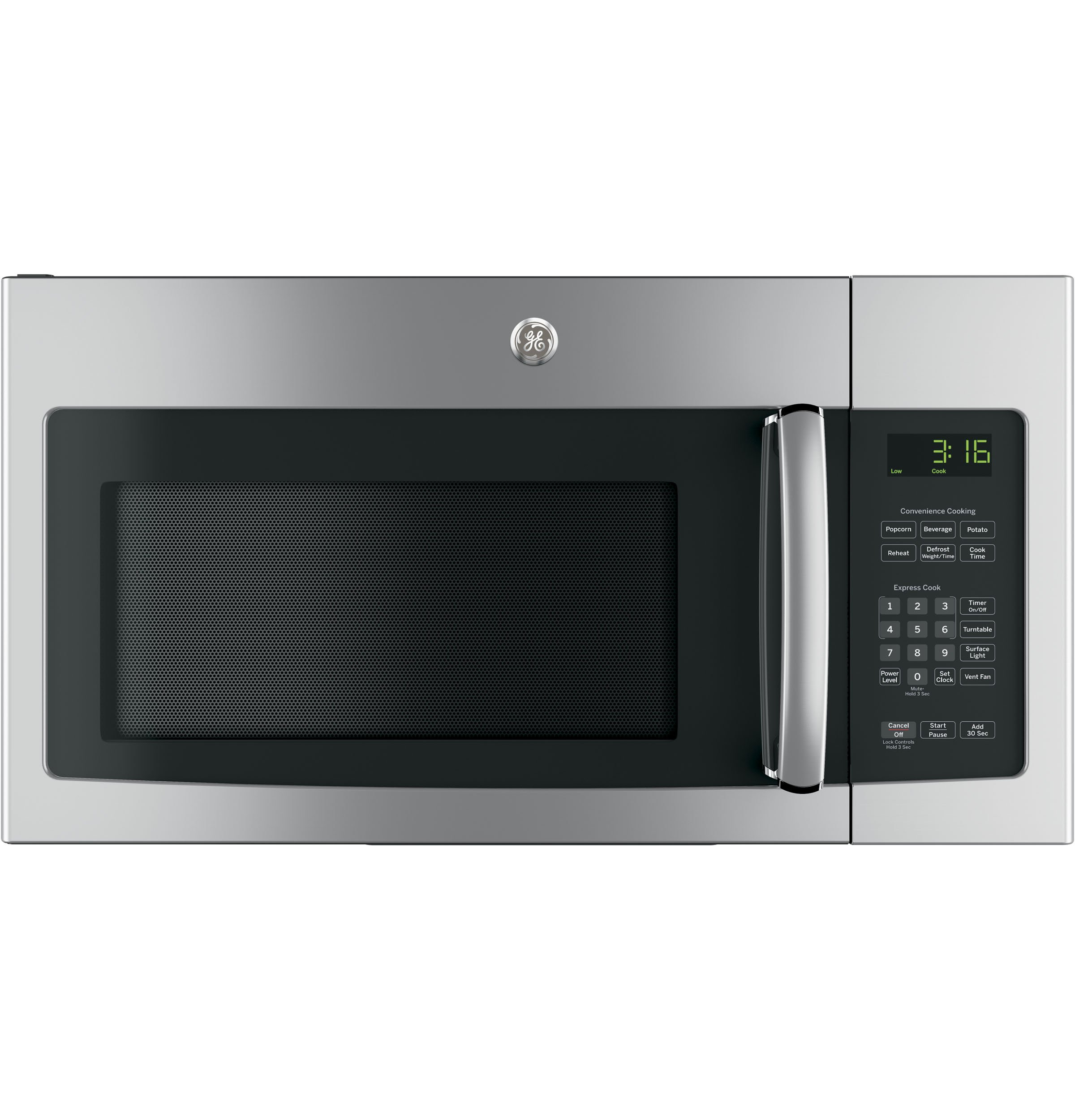 GE JNM3163RJSS 30'' Over-the-Range Microwave with 1.6 cu. ft. Capacity, in Stainless Steel by GE
