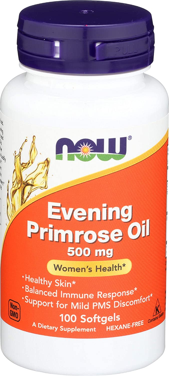 NOW Supplements, Evening Primrose Oil 500 mg with Naturally Occurring GLA (Gamma-Linolenic Acid), 100 Softgels: Health & Personal Care