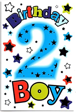 Birthday Card For Two 2 Year Old Boy Free 1st Class Post UK