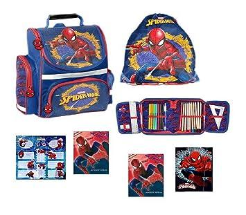 Spiderman große Sporttasche Schwimmtasche passend zum Schulranzen blau