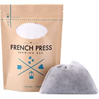 The Original French Press Brewing Bags - 50 Easy Fill Fine Mesh Disposable Coffee Filters For Your French Press Coffee…