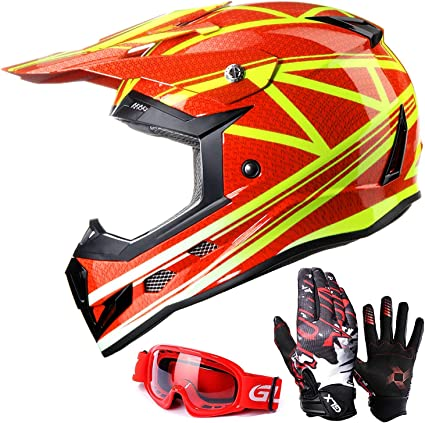 Boys Girls Motorcycle Goggles Motocross KidsBlack Pink Red Orange Extra Small