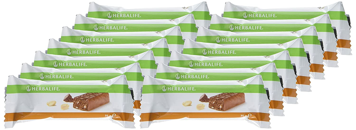 Herbalife Protein Bars Chocolate Peanut 14 Bars Per Box 490g