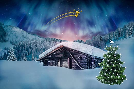 Inspired Walls Póster Gigante de la casa del Polo Norte de Navidad ...