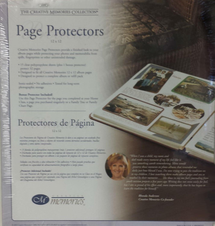 Creative Memories 12 X 12 Page Protectors 15 Sheets +1 Bonus Protector 6069460801