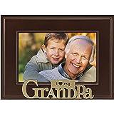 Malden International Designs I Heart Brass Word Grandpa Picture Frame, 4x6, Brass