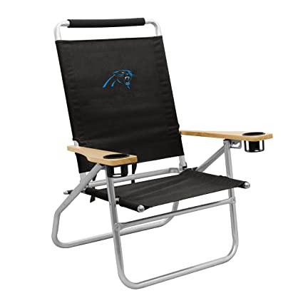 Bon Logo Brands NFL Carolina Panthers Beach Chair, One Size, Black
