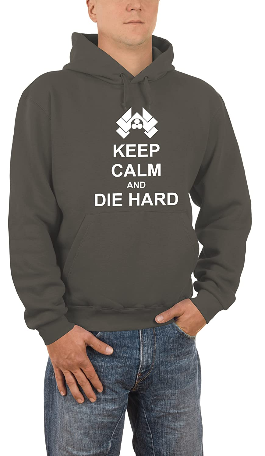 Touchlines Keep Calm And Die Hard, Felpa Uomo Touchlines GmbH 471214KS