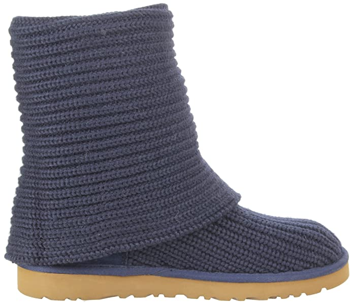 Authentic UGG Gray Knit boots with wooden buttons