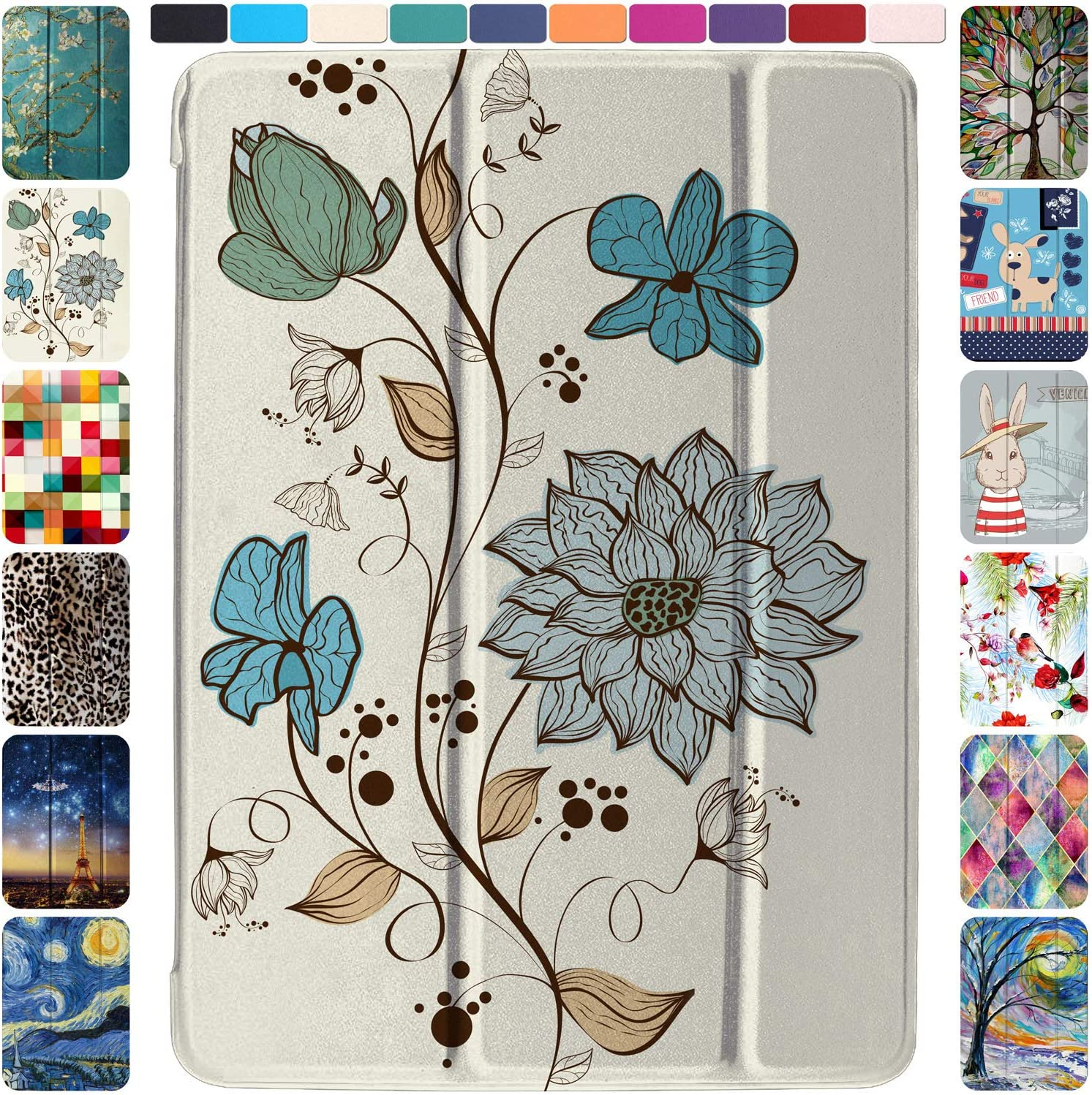 DuraSafe Cases iPad PRO 11 2020 MY232LL/A MXDC2LL/A MXDE2LL/A MXDG2LL/A MY252LL/A MXDD2LL/A MXDF2LL/A MXDH2LL/A Ultra Slim Supportive Classic Case with Adjustable Stand Feature - Watercolor Flowers