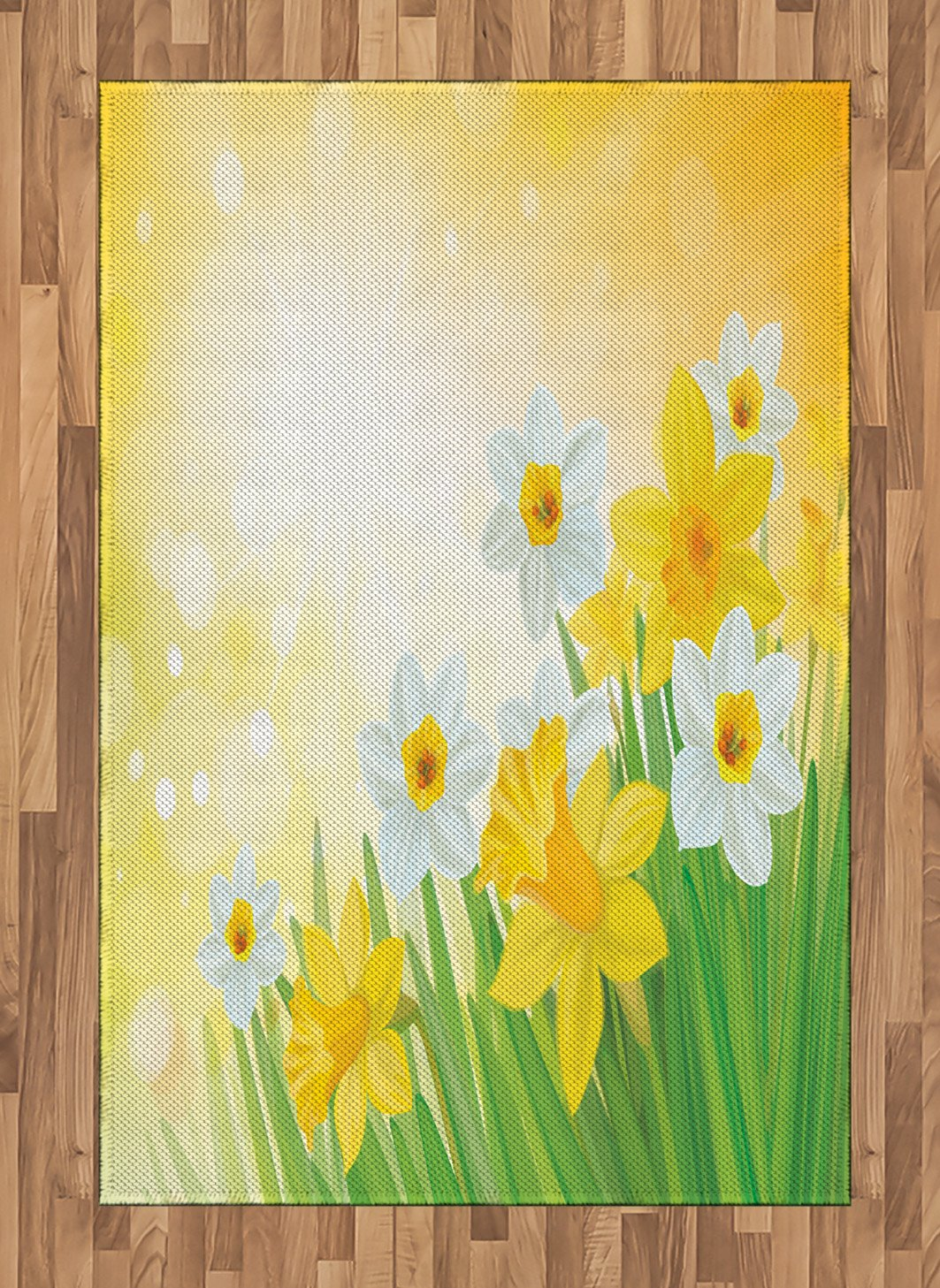 5ff94391f Ambesonne Daffodil Area Rug, Daffodils Garden Narcissus Rebirth and New  Beginnings Celebration Graphic, Flat Woven Accent Rug for Living Room  Bedroom Dining ...