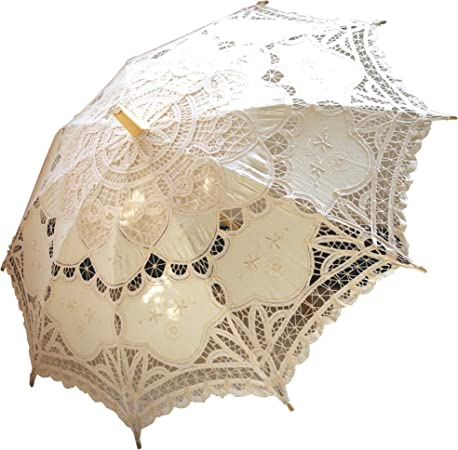 Image result for AEAOA Handmade Ivory Lace Parasol Vintage Umbrella