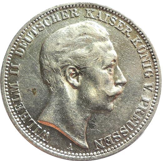 Silbermünze 3 Mark 1909 A Silber Münze In Ss Kaiser Wilhelm Ii