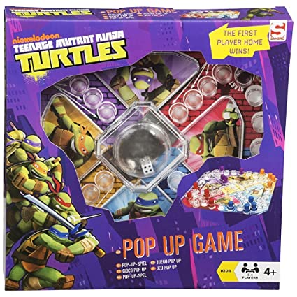 TEENAGE NINJA TURTLES POP UP FUN DICE BOARD PARTY GAME TOY ...