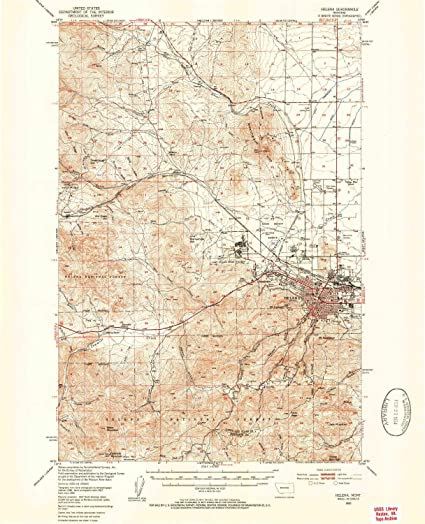 Amazon.com : YellowMaps Helena MT topo map, 1:62500 Scale, 15 X 15 ...