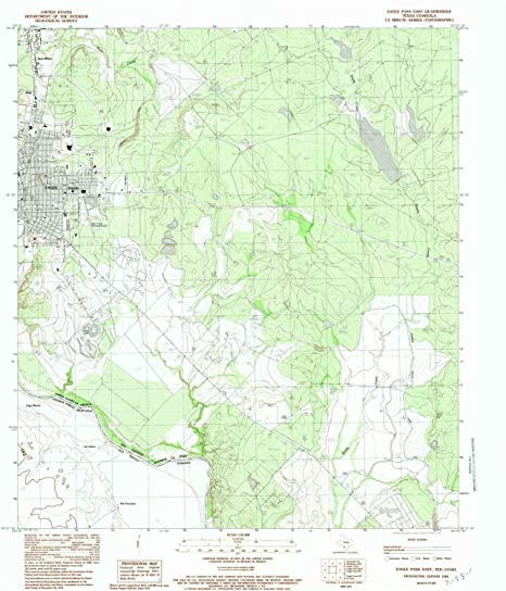 YellowMaps Eagle Pass East TX topo map, 1:24000 Scale, 7.5 X 7.5