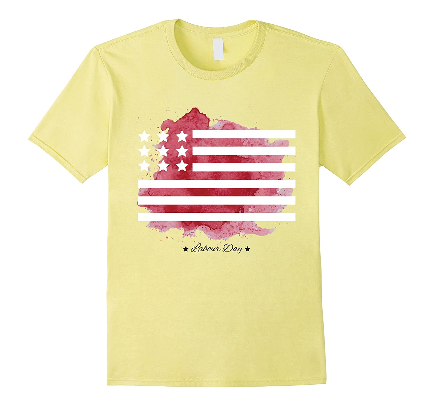 Labor Day With American Flag T-Shirt For Workers-BN