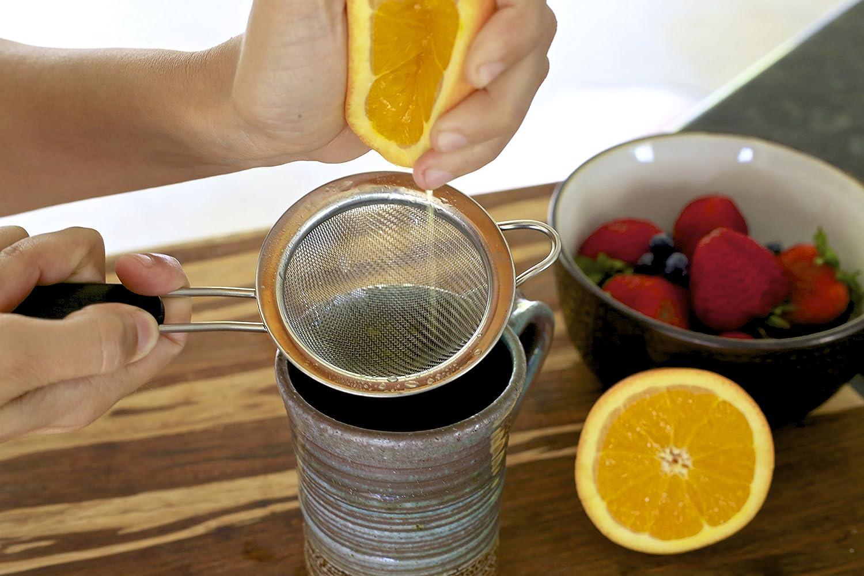 Compra LiveFresh Fine Mesh Colador de Té de Acero Inoxidable Con Mango Antideslizante - 3 Pulgadas - Tamaño Ideal Para Colar Tés y Cócteles o Tamizar Harina ...