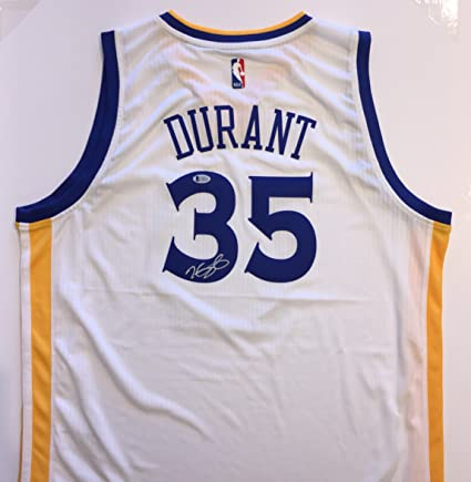 a4ba333b9b2 Kevin Durant Autographed Golden State Warriors Jersey - white. Signed  private session. Beckett Authentication