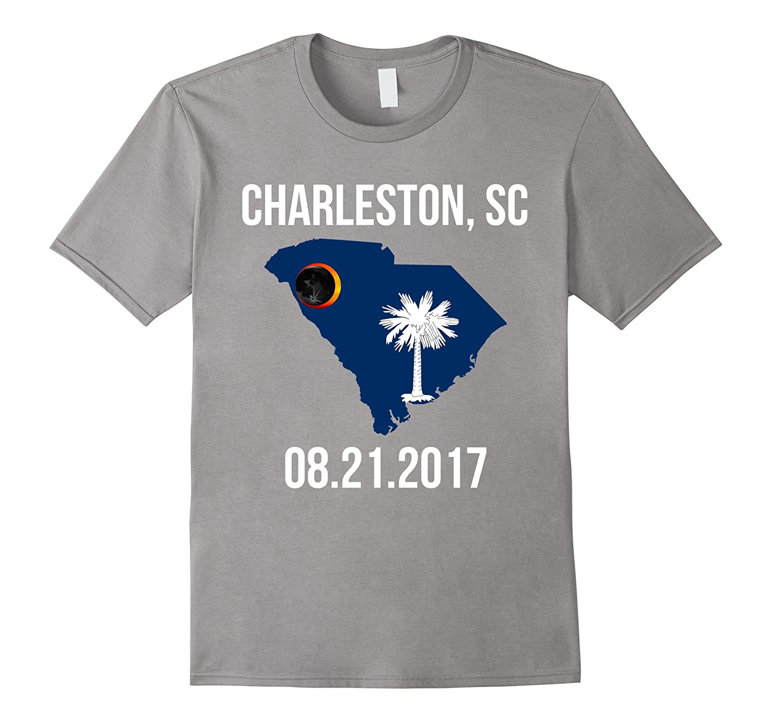 2017 Charleston SC Solar Eclipse Shirt, South Carolina Flag-Art
