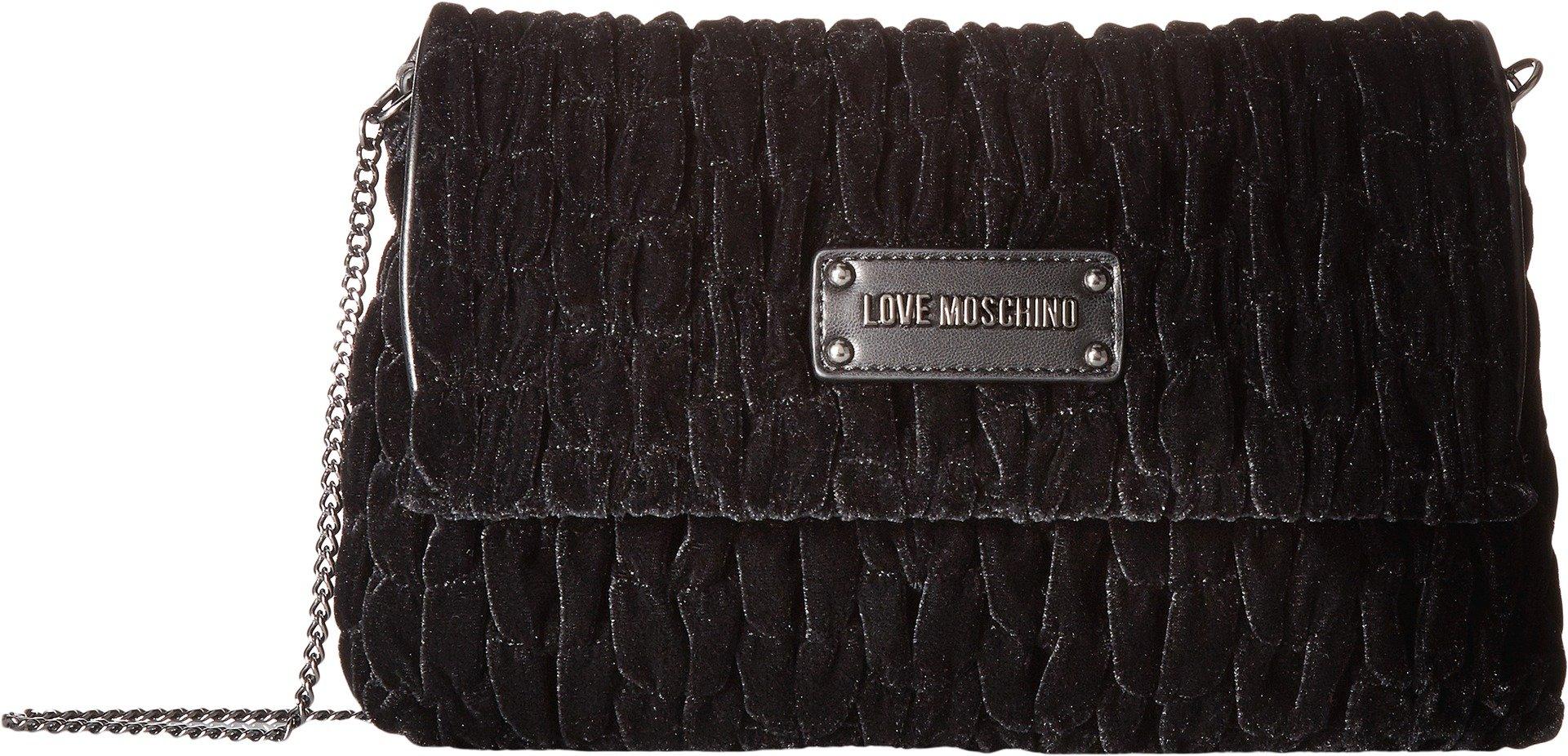 LOVE Moschino Women's Velvet Gathered Rectangle Bag Black One Size