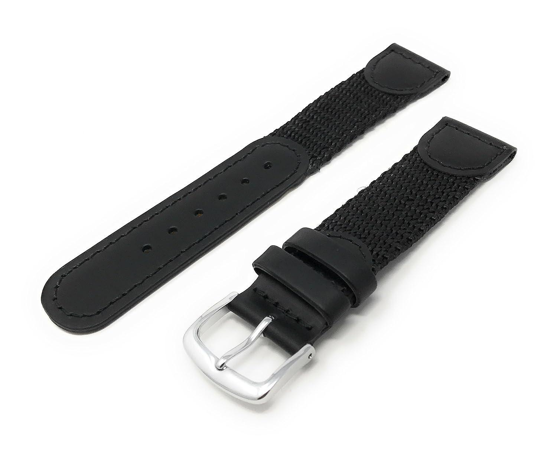 JP Leatherworks メンズ腕時計バンド 19mm スイスアーミースタイル ブラック  B000ZTCHOS