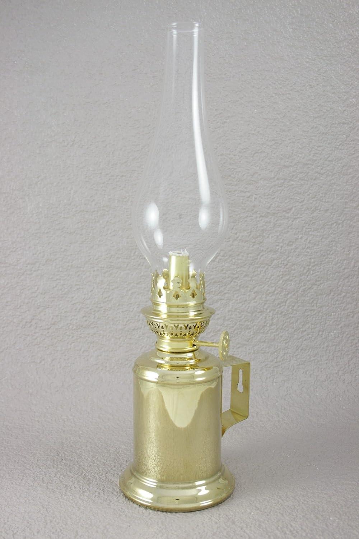 Lampe à pétrole Gaudard - Applique laiton poli - Hauteur 300 mm