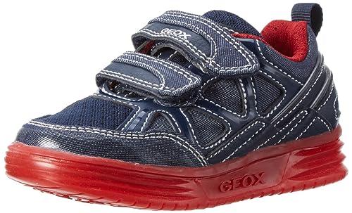 Geox J Argonat C, Zapatillas para Niños, Azul (Navy/redc0735), 38 EU